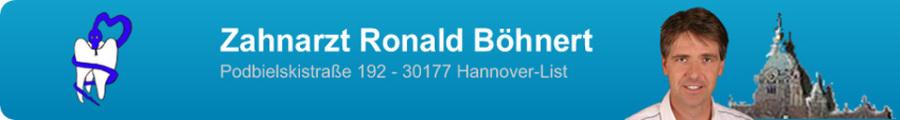 Zahnarzt Ronald Böhnert Podbielskistraße 192 - 30177 Hannover-List